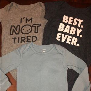 2 Short sleeve and 1 Long sleeve Onesies 18 Months